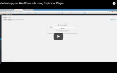 How to backup your WordPress site using Duplicator Plugin