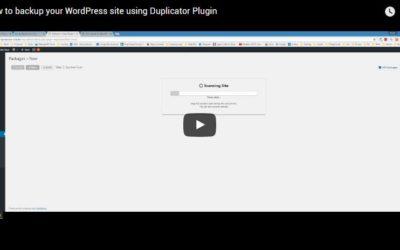 How to backup your WordPress site using Duplicator Plugin