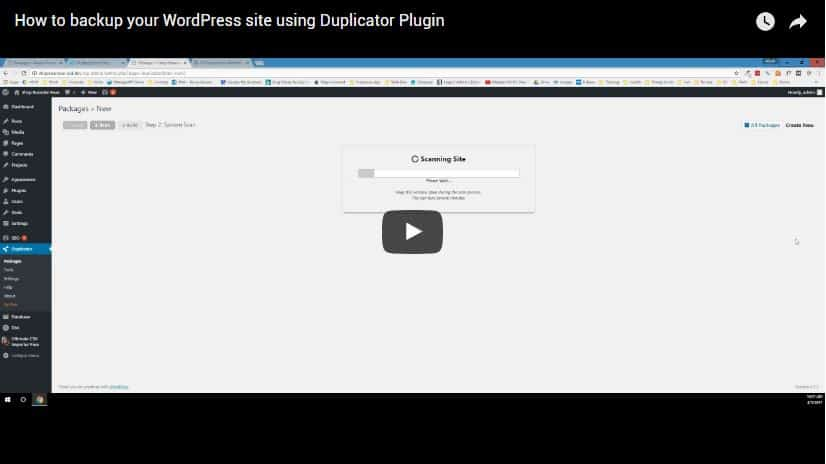 How to use duplicator plugin